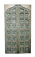 Antique Handcrafted Door Wooden Carved Door Enamel work Architectural Early 18th
