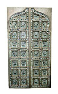 Handcrafted Door Wooden Carved Door Enamel work Architectural Early 18th Style