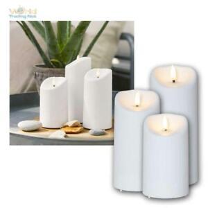 """LED Kerze für Außen """"3D FLAMME"""" mit Timer Outdoor Balkon Garten-Kerzen flackernd"""