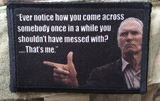 Clint Eastwood Don't Mess With Me Morale Patch Tactical ARMY Hook Military USA