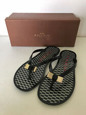 NEW! COACH LANDON JELLY BLACK MILK SANDALS SLIPPERS FLIP-FLOPS 5 35 $88 SALE