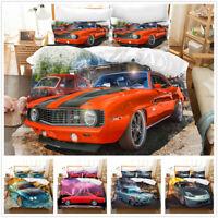 3D  Classical Cars Bedding Set Duvet Cover Pillowcase Comforter/Quilt Cover 3PCS