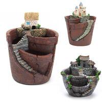Box Bed Artificial Bonsai Flower Pots Garden Sky Planter Succulent Plant House