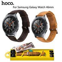 HOCO Duke 22mm Genuine Leather Band for Samsung Galaxy Watch 46mm Strap Bracelet