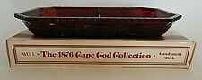 Vtg Avon Ruby Red 1876 Cape Cod Collection Condiment Dish Tray Plate Orig Box