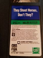 THEY SHOOT HORSES DONT THEY VHS