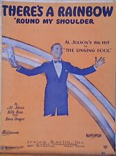 There's A Rainbow Round My Shoulder - sheet music - 1928 movie The Singing Fool