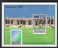New Zealand MNH 1991 World Cup Rugby Championship M/S