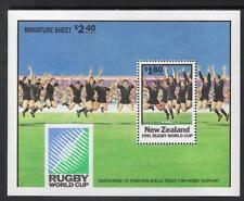 Nueva Zelanda Mnh 1991 Copa Mundial De Rugby Championship M/s