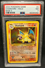 2000 Pokemon Game Base Set 2 #4 Charizard Holo PSA 7 Near Mint 4/130
