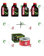 KIT TAGLIANDO OLIO MOTUL 5100 4T 10W40 4 LT+FILTRO HF111 HONDA VT 250