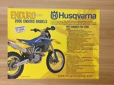 Vintage 2006 Husqvarna Enduro Models Technical Data Sheet *FREE SHIPPING!!*