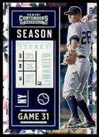 2020 Contenders Season Ticket Cracked Ice #55 DJ LeMahieu /23 - New York Yankees