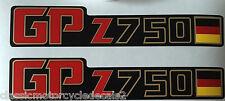 KAWASAKI GPZ750 GPZ750A GPZ750UT UNI-TRACK  SIDE PANEL DECALS GERMAN FLAG