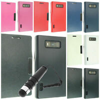 NEW LEATHER FLIP POUCH COVER CASE FOR LG OPTIMUS L7 P700  + STYLUS & PROTECTOR