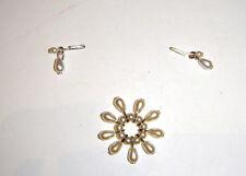 Barbie Doll Sized Jewelry Faux Pearl Earrings, Bracelet For Barbie Dolls j62
