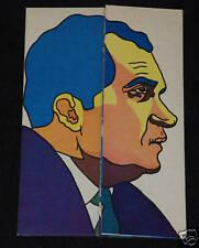 1972 Original OSPAAAL Cuban Political Poster.NIXON Werewolf Origami.Very rare!