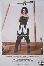 "WENDYZ CHENG ""W"" ASIAN PROMO POSTER - J-Pop Music, Japanese Singer"