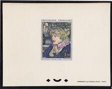 épreuve de luxe timbre France  tableau  Toulouse Lautrec  1965 num: 1426