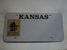 Blank KANSAS Ottawa University Booster License Plate KS Tag