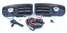 FAROS ANTINIEBLA LUCES PARRILLA SET PARA VW GOLF 4 MK4 97-02 & KIT DE CABLEADO