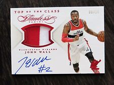 2014-15 Panini Flawless John Wall Top of the Class Jersey Auto Wizards 09/15