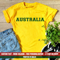 Australia Varsity Sports Text T Shirt Funny Aussie Dad Cousin Holiday Gift Top