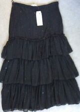 Calf Length Polyester Tiered Skirts for Women