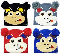 Childrens Beanie Hat Monkey Design Boys & Girls Winter Warm Acrylic Kids Ski Cap
