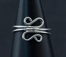 Bague de pied -bijoux d' orteil ethnika Lou ajustable en metal blanc  W93