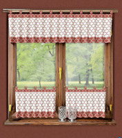 "Kitchen Curtains Morrocan Cafe net 24"" 60cm  Sold by the metre Window Decor"