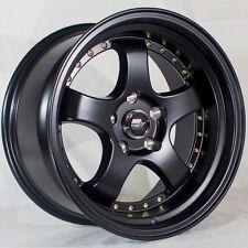 MST MT07 17x9 5x114.3 +20 Matte Black Rims Fits Ford Mustang Gt 300Zx 350z 370z