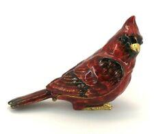 Metropolitan Museum of Art Mma 2012 Red Enamel Bird Trinket Box 2.25 Tall
