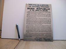 1916 Irish Proclamation - easter rising - irish uprising
