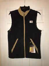 NWT - Mens NORTH FACE Black/Khaki Fleece Vest CMPSHR Small