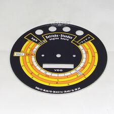 Original VDO Zifferblatt Traktormeter Güldner G60 mit Aufdruck Reifengr.