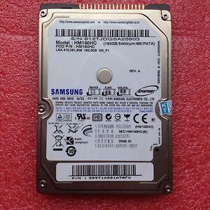 "Samsung HM160HC 160 GB 5400RPM 2.5"" IDE,ATA, PATA Laptop Notebook Hard Drive HDD"