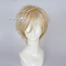 Anime Basic for The Legend Of Zelda Link Light Blonde Halloween Cosplay Wig+Cap