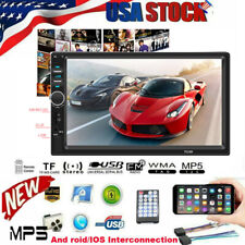 7 Inch 1080P DOUBLE 2DIN Car MP5 Player Touch Screen Stereo Radio HD FM BT Aux