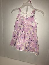Mimi & Maggie Purple Baby Flower Dress With Bloomers, Size 12M