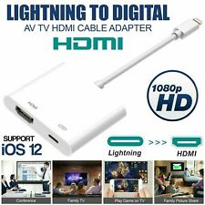 1080p Lightning to HDMI Digital AV TV Adapter Cable For iPhone 6 7 8 Plus X ecc