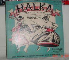 HALKA STANISLAW MONIUSZKO 2LPS POZNAN POLAND 1955 33RPM COLOSSEUM GOOD CONDITION