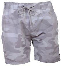 Mens Crosshatch DESIGNER Swimming Trunks Summer Beach Shorts Mesh Lined XXLarge Camo Light Grey