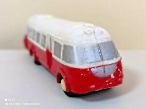 VINTAGE BUS SKODA 706 RTO TOY SMER PLASTIC DIE CAST OLD STOCK 1960 AUTOBUS 14cm
