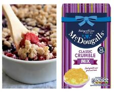 CRUMBLE MIX 10 PORTIONS 400G - McDougalls Classic - HOME BAKING - SPRINKLE OVER