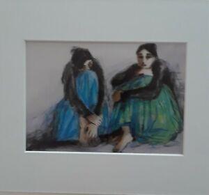 "R.C.Gorman-""UNTITLED""- Native American, Matted Art Print-- 8x10"