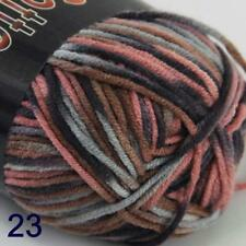 AIP Soft Baby Cotton Yarn New Hand dyed Wool Socks Scarf New Knit 1Skeinx50gr 23