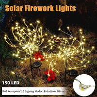 150 LED Solar Firework Lights IP65 2Modes Outdoor Path Lawn Garden Lamp Decor US