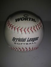 Worth 12� Slow Pitch Official League Softball White Cover Wcs12