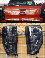 12-16 FIT FORD RANGER T6 SMOKE BLACK TAIL LAMP LIGHTS REAR wildtrak XL PX UTE 16
